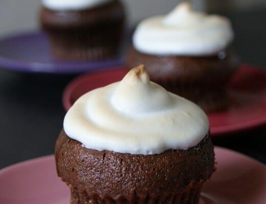 Cupcake chocolat neige