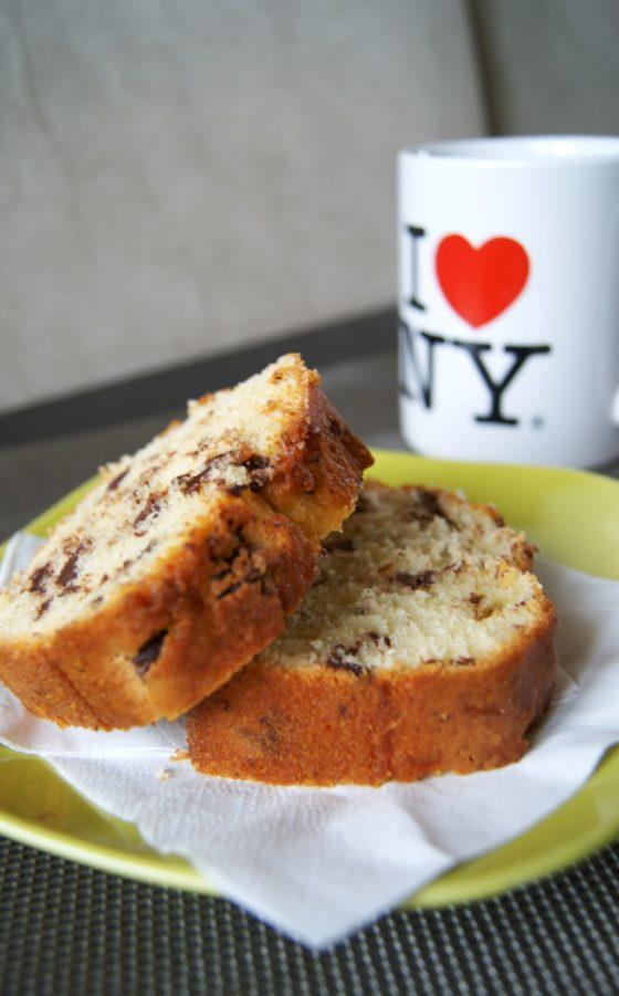 Cake pépites chocolat noir et lait - Lilie Bakery