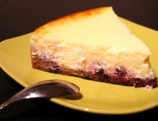 cheesecake myrtilles citron vert