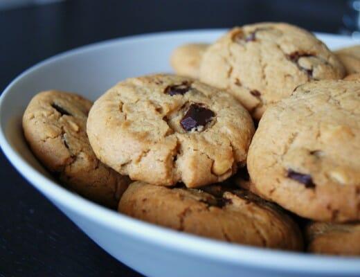 cookies beurre cacahuètes et pépites chocolat