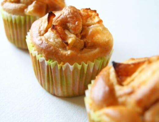 muffins pomme-cannelle au sirop d'érable