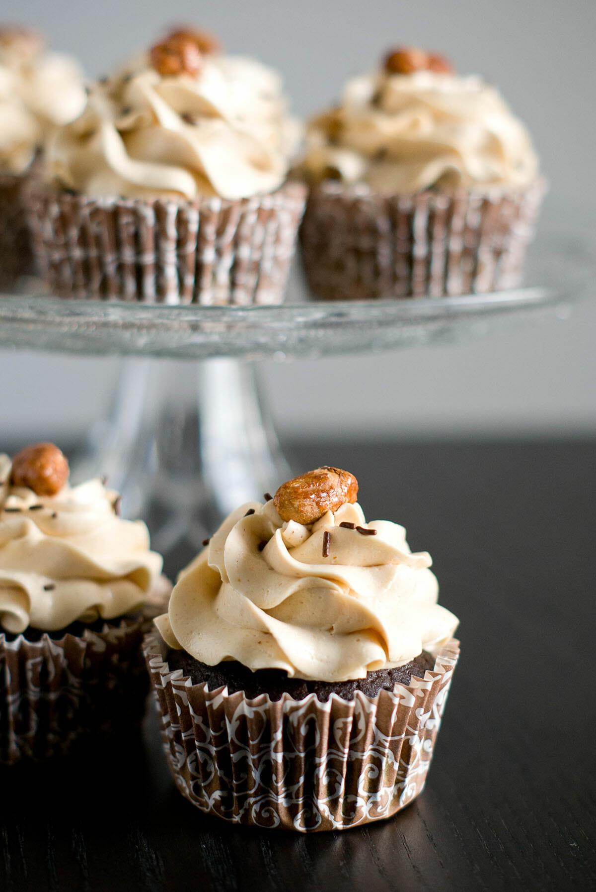 Cupcakes Chocolat & Beurre de Cacahuètes | Lilie Bakery 1