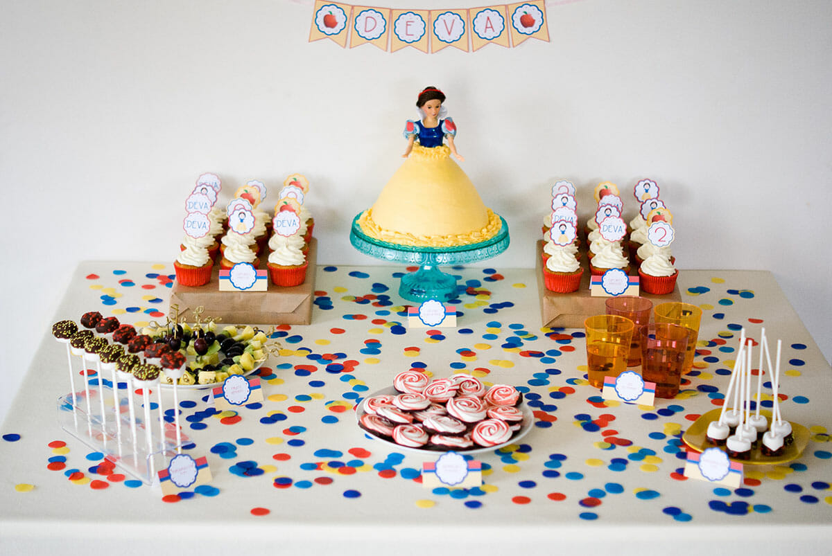 Sweet table princesse blanche neige lilie bakery - La princesse blanche neige ...