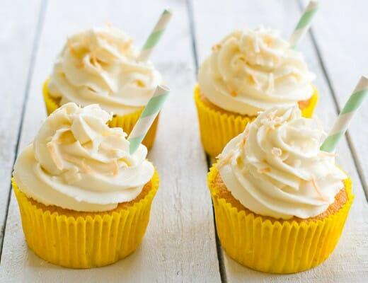 Cupcakes Façon Piña Colada | Lilie Bakery 1