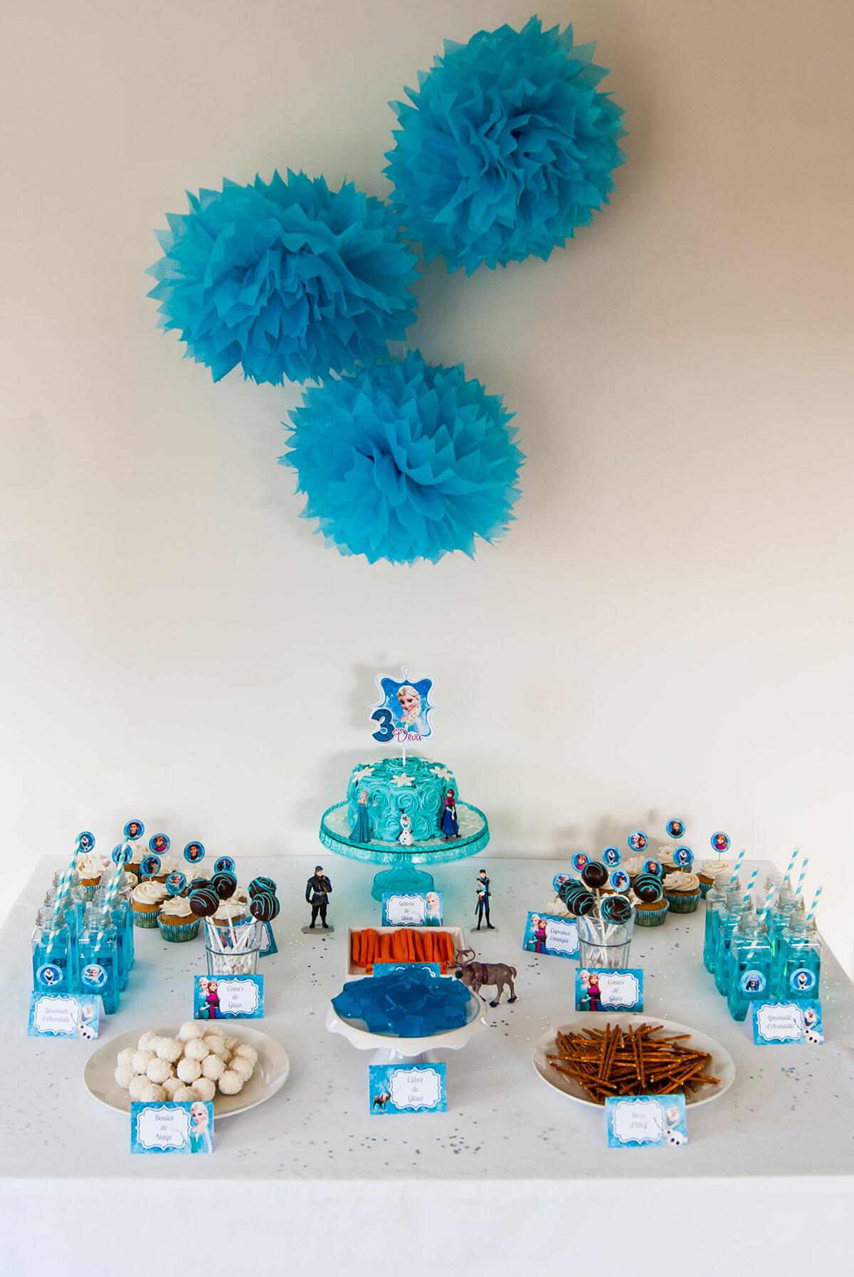 Sweet table anniversaire reine des neiges lilie bakery - Reine de neige 2 ...