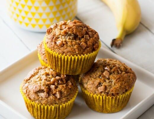 Muffins Banane & Caramel Fudge | Lilie Bakery 1