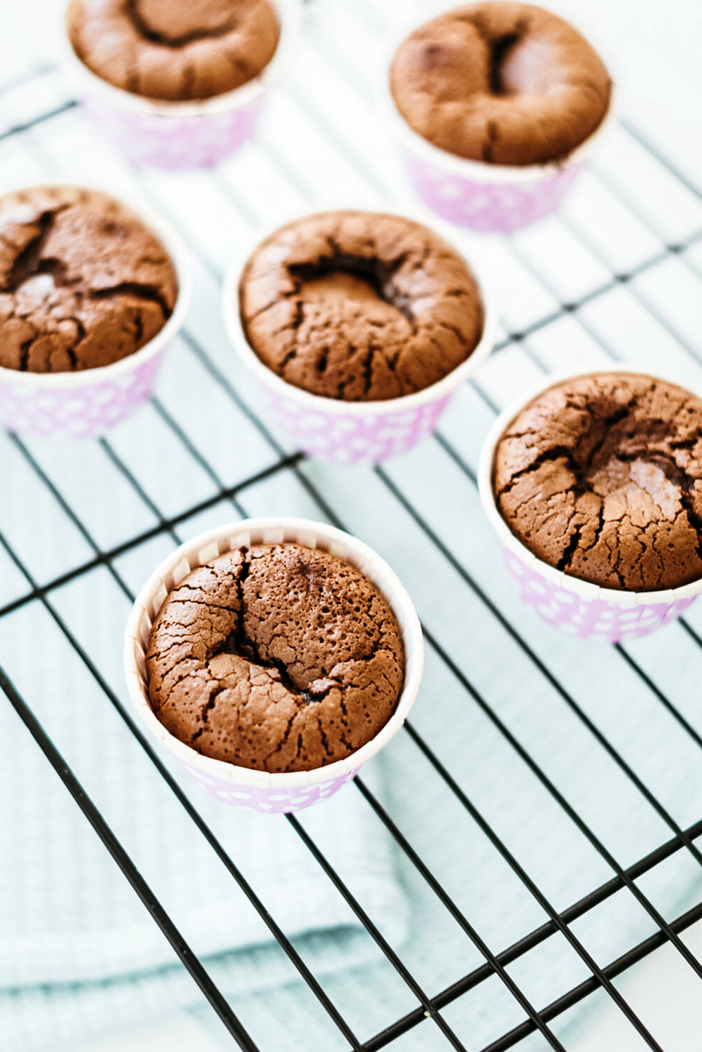Fondants coeur coulant chocolat muffins - Lilie Bakery