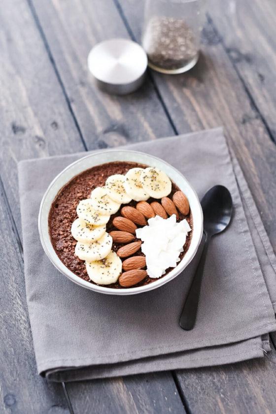 Overnight Porridge Avoine Cacao Noix de Coco | Lilie Bakery