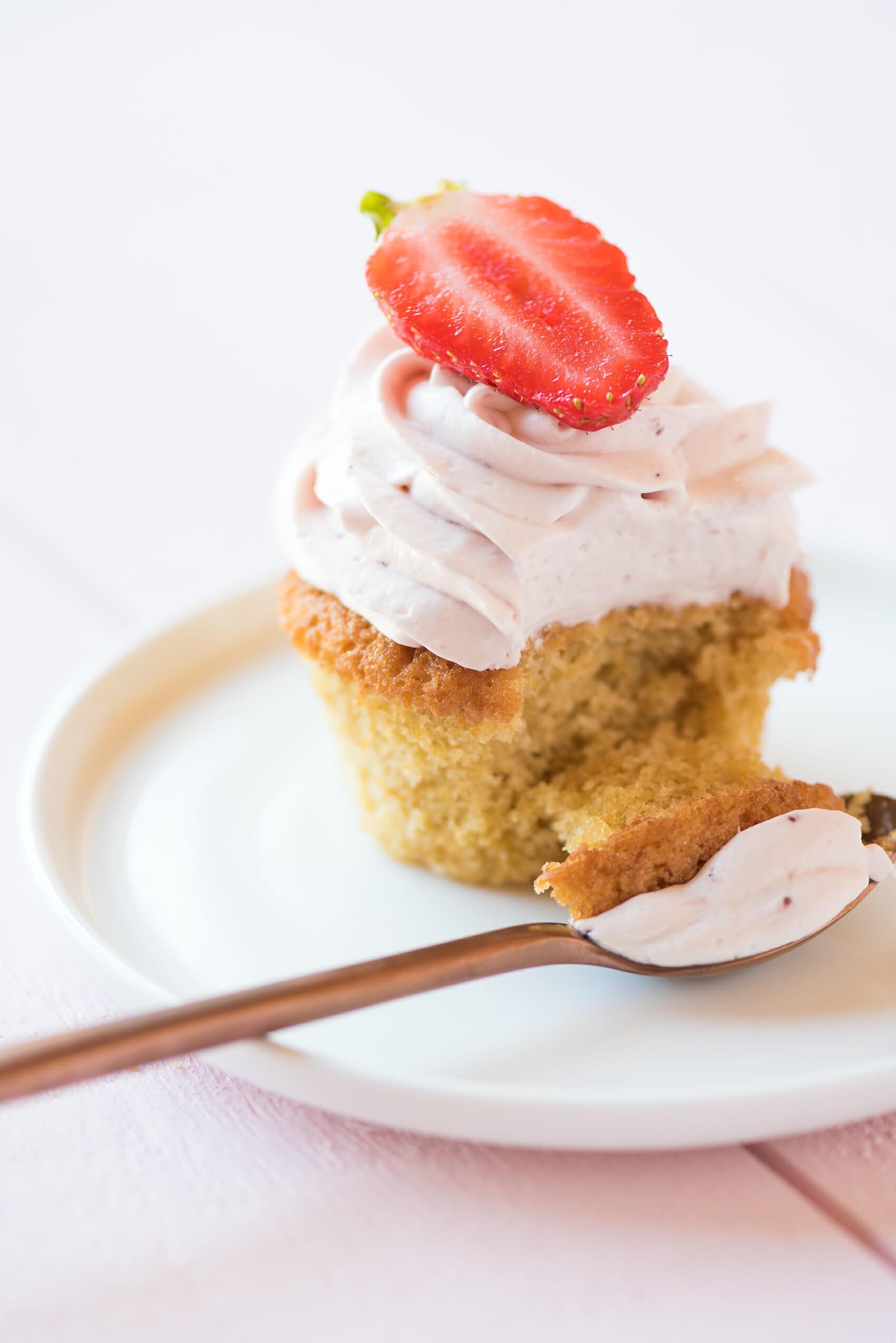 Cupcakes Fraise Citron | Lilie Bakery