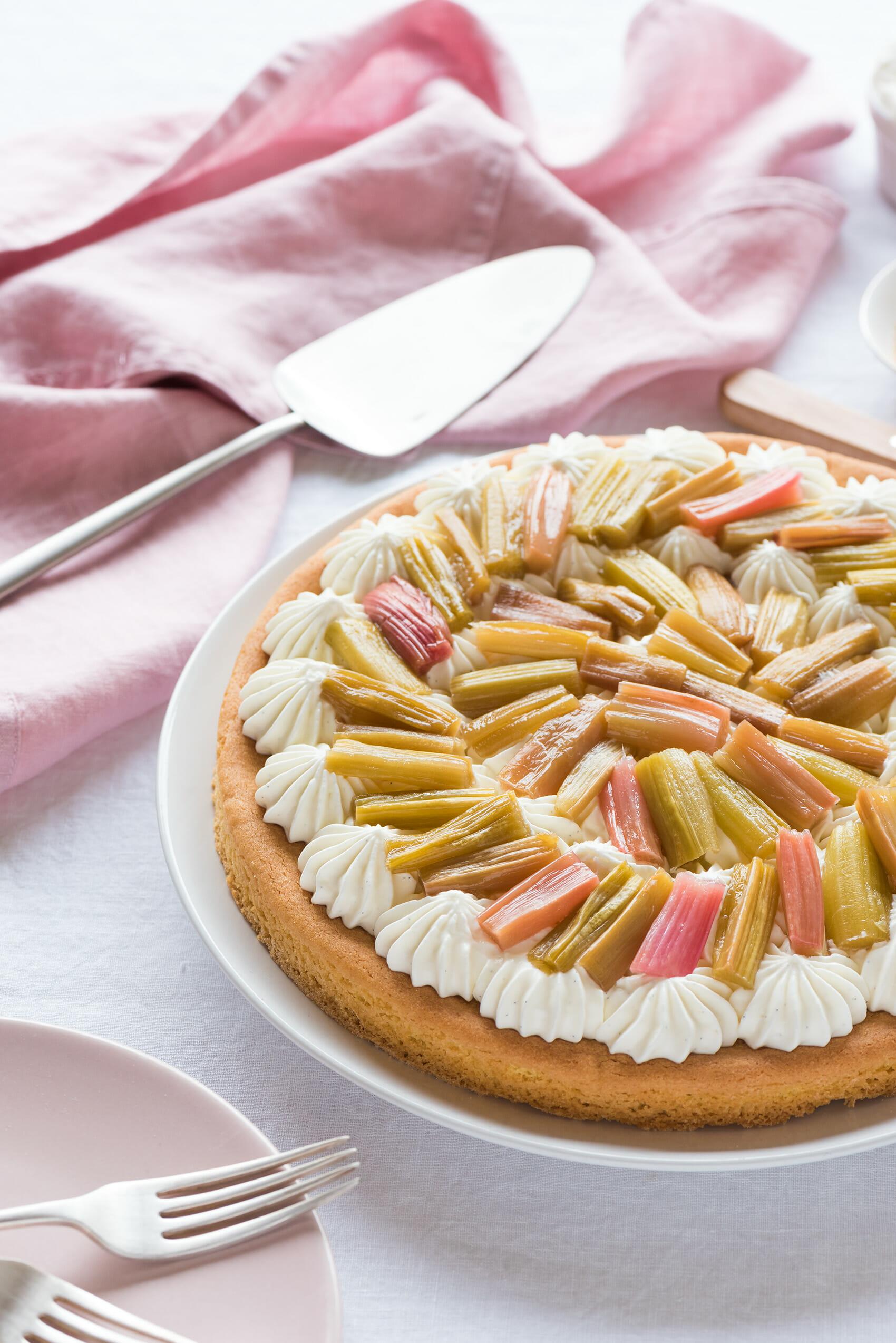 Tarte Rhubarbe Crème Vanillée | Lilie Bakery