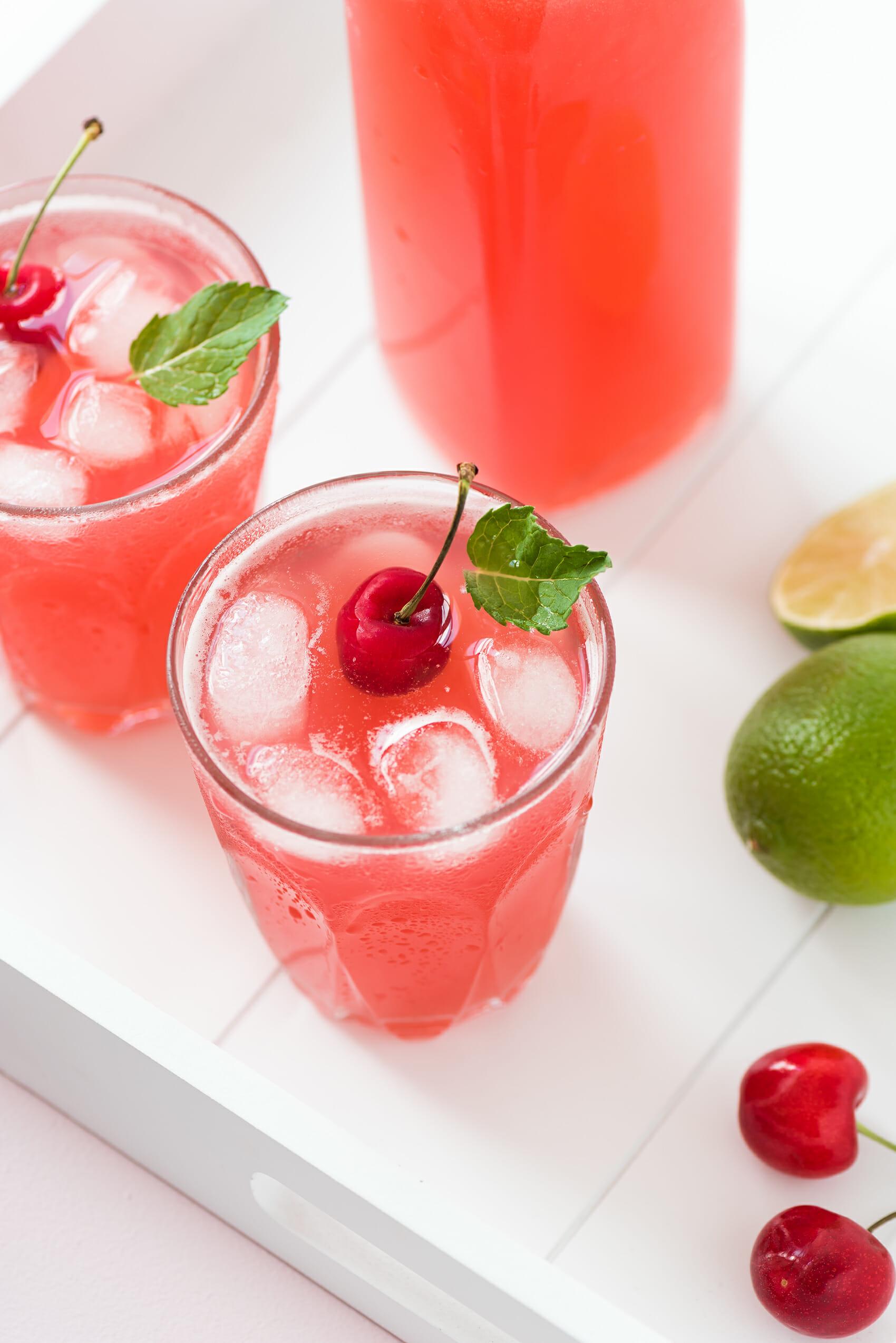Limonade Cerise & Citron Vert | Lilie Bakery