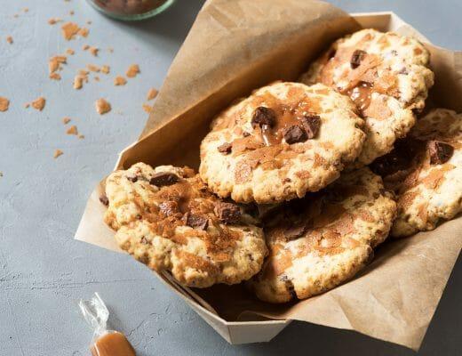 Cookies crepes dentelle, caramel beurre salé, chocolat au lait - Lilie Bakery