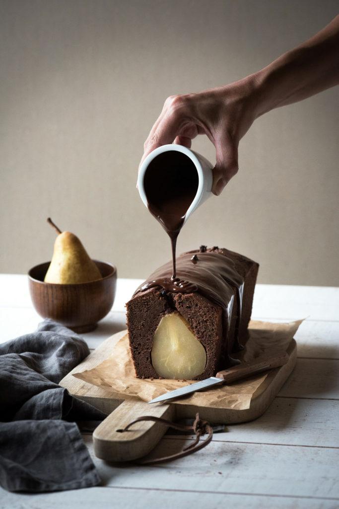 cake poire chocolat lilie bakery. Black Bedroom Furniture Sets. Home Design Ideas