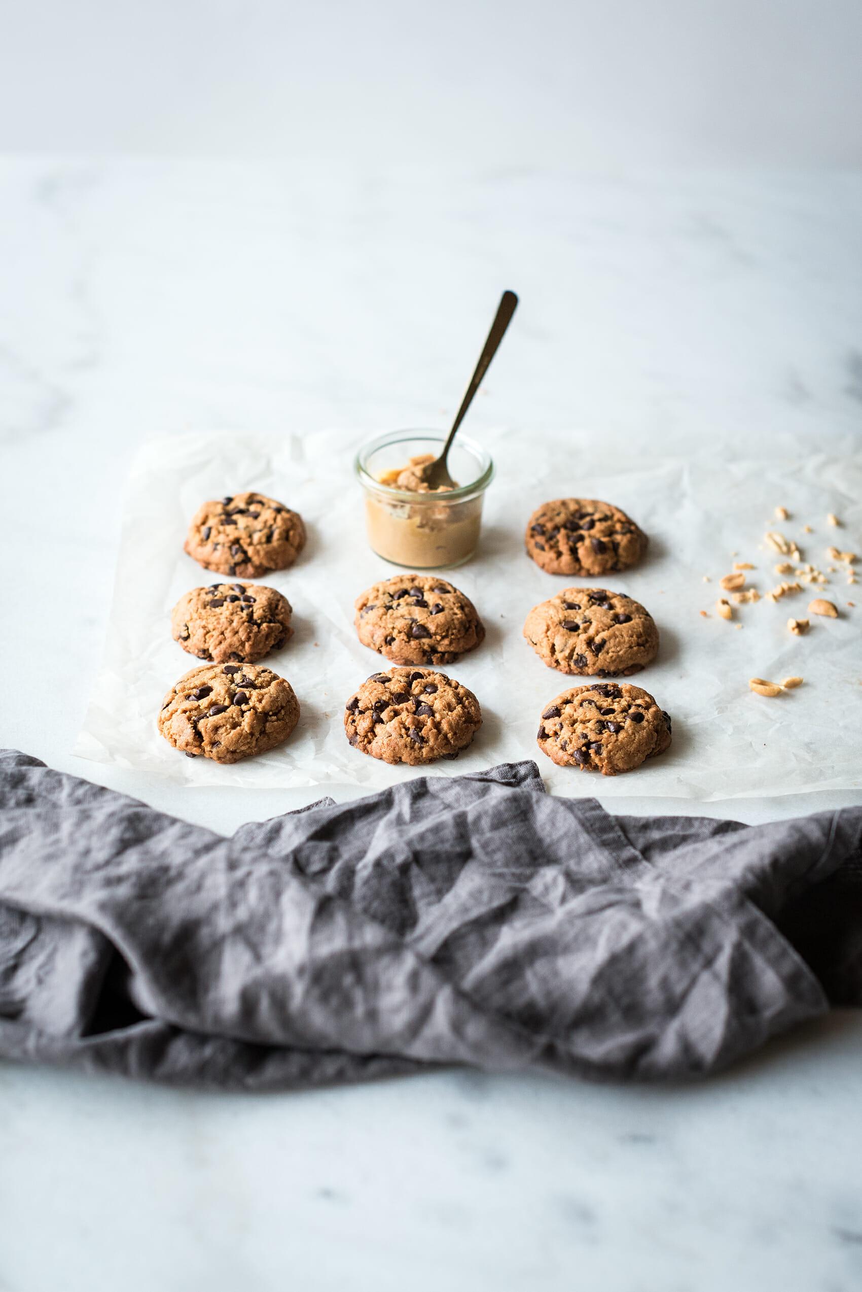 Cookies beurre de cacahuètes pépites chocolat - Lilie Bakery