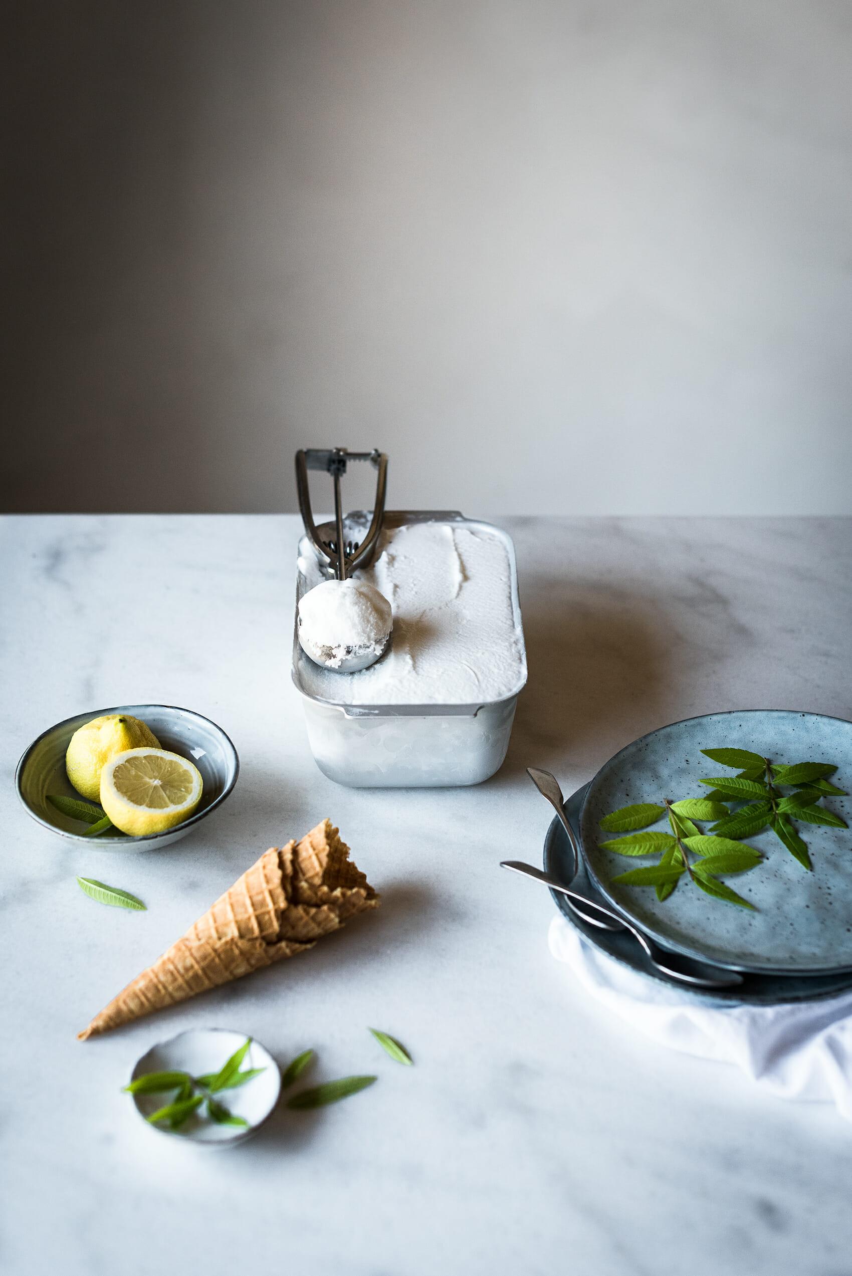 Glace sorbet verveine citron - Lilie Bakery