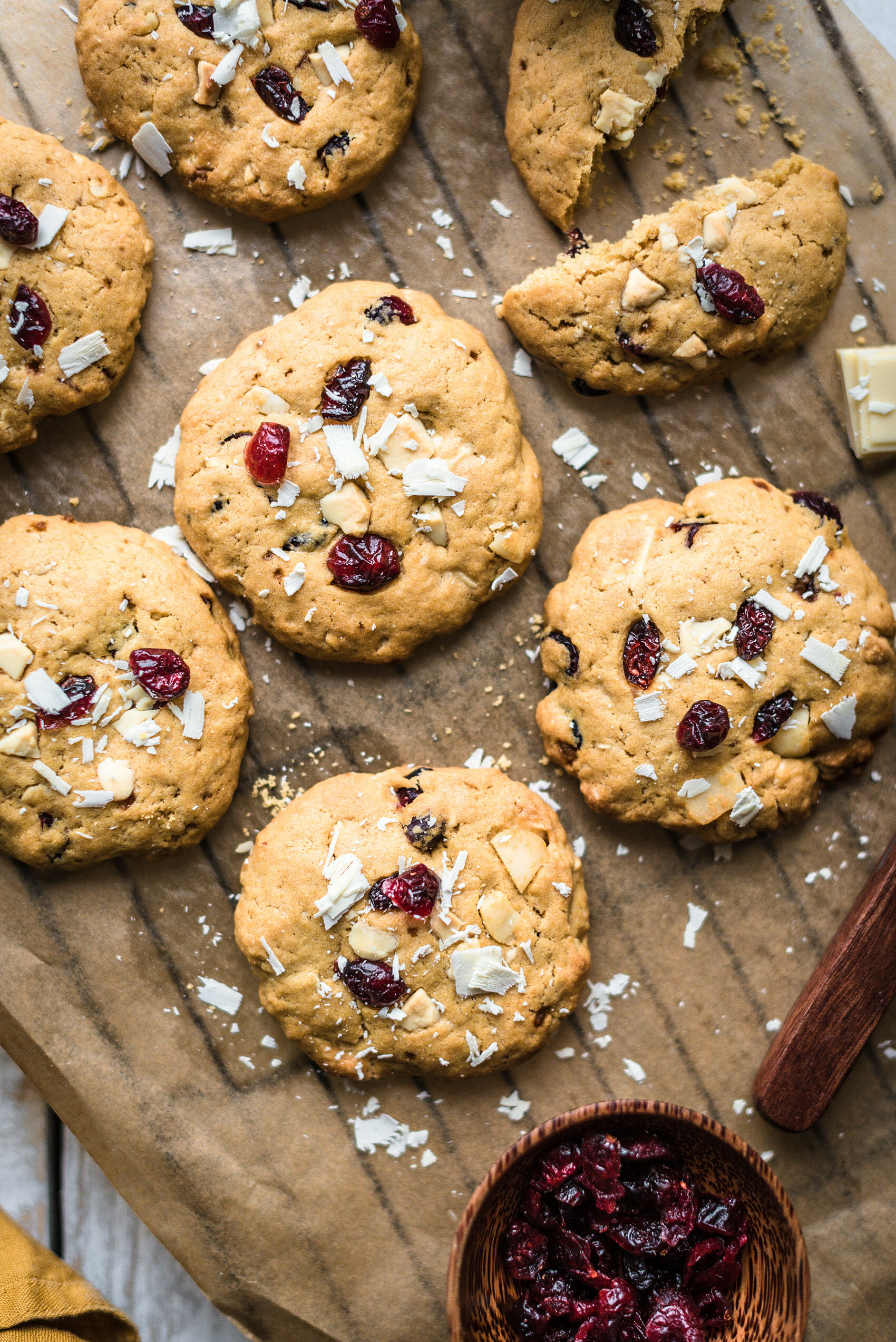Cookies chocolat blanc macadamia cranberries - Lilie Bakery