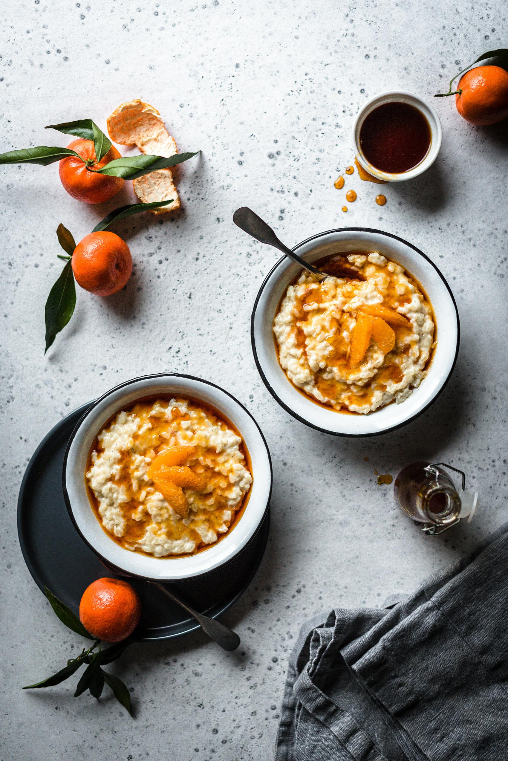Riz au lait vanillé caramel de clémentine - Lilie Bakery