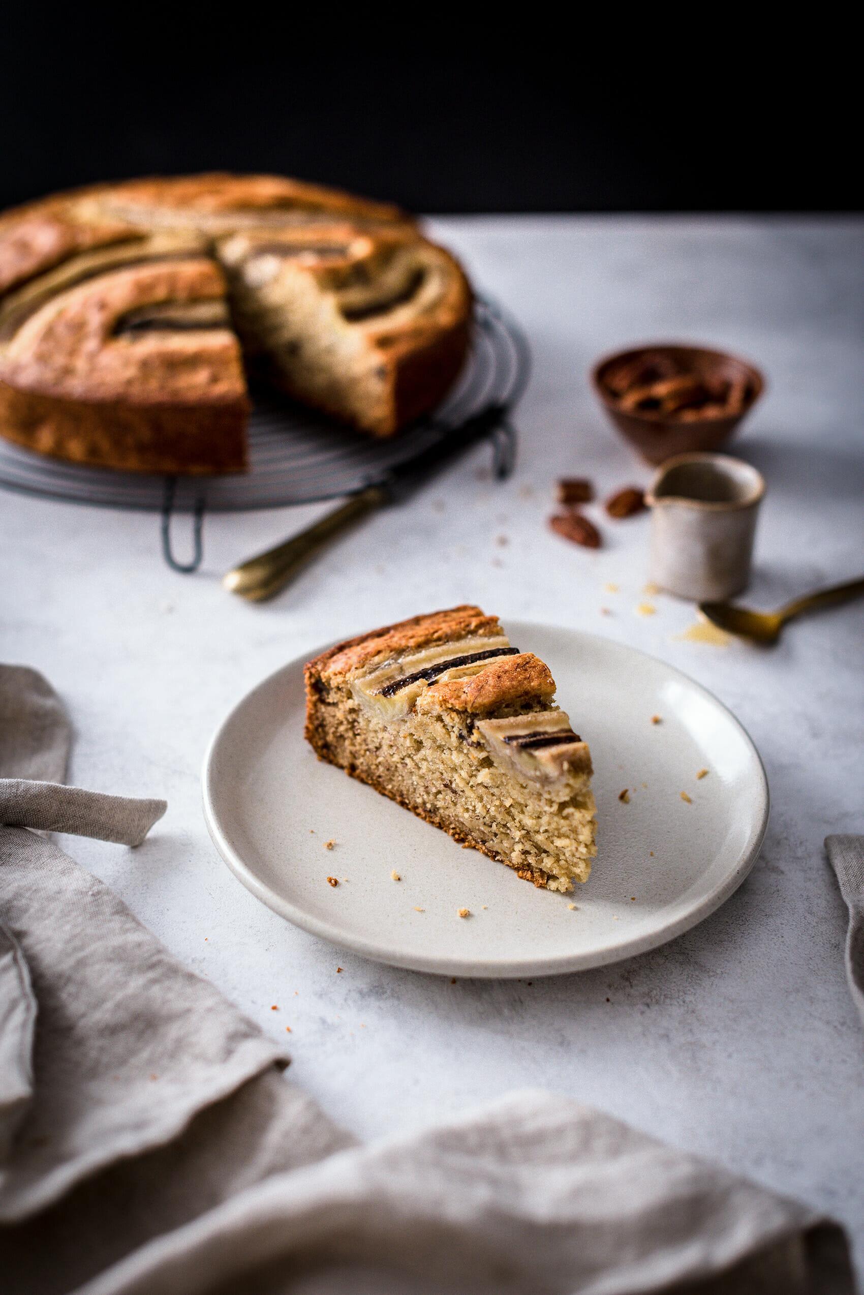 Gâteau moelleux banane, pécan & beurre noisette - Lilie Bakery