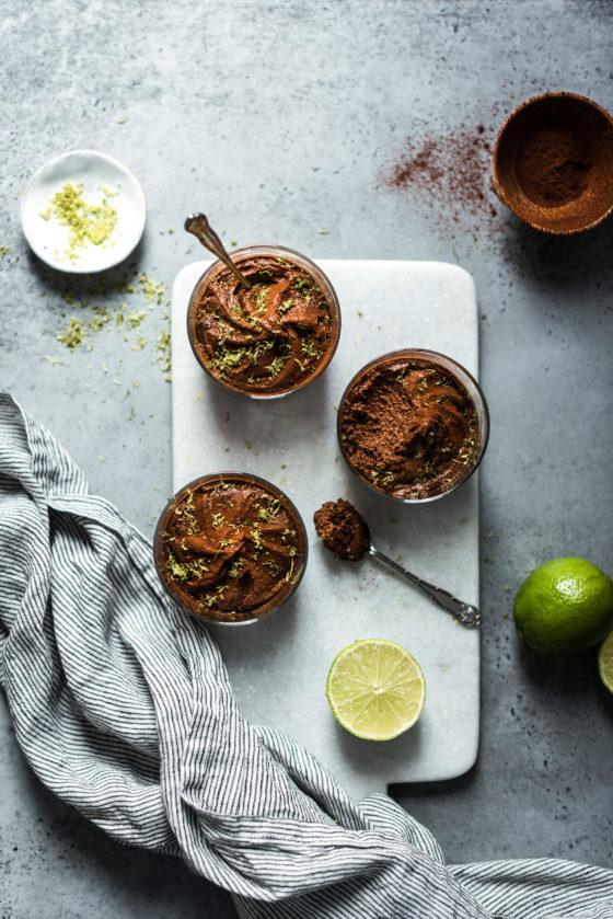 Mousse chocolat glacée citron vert - Lilie Bakery