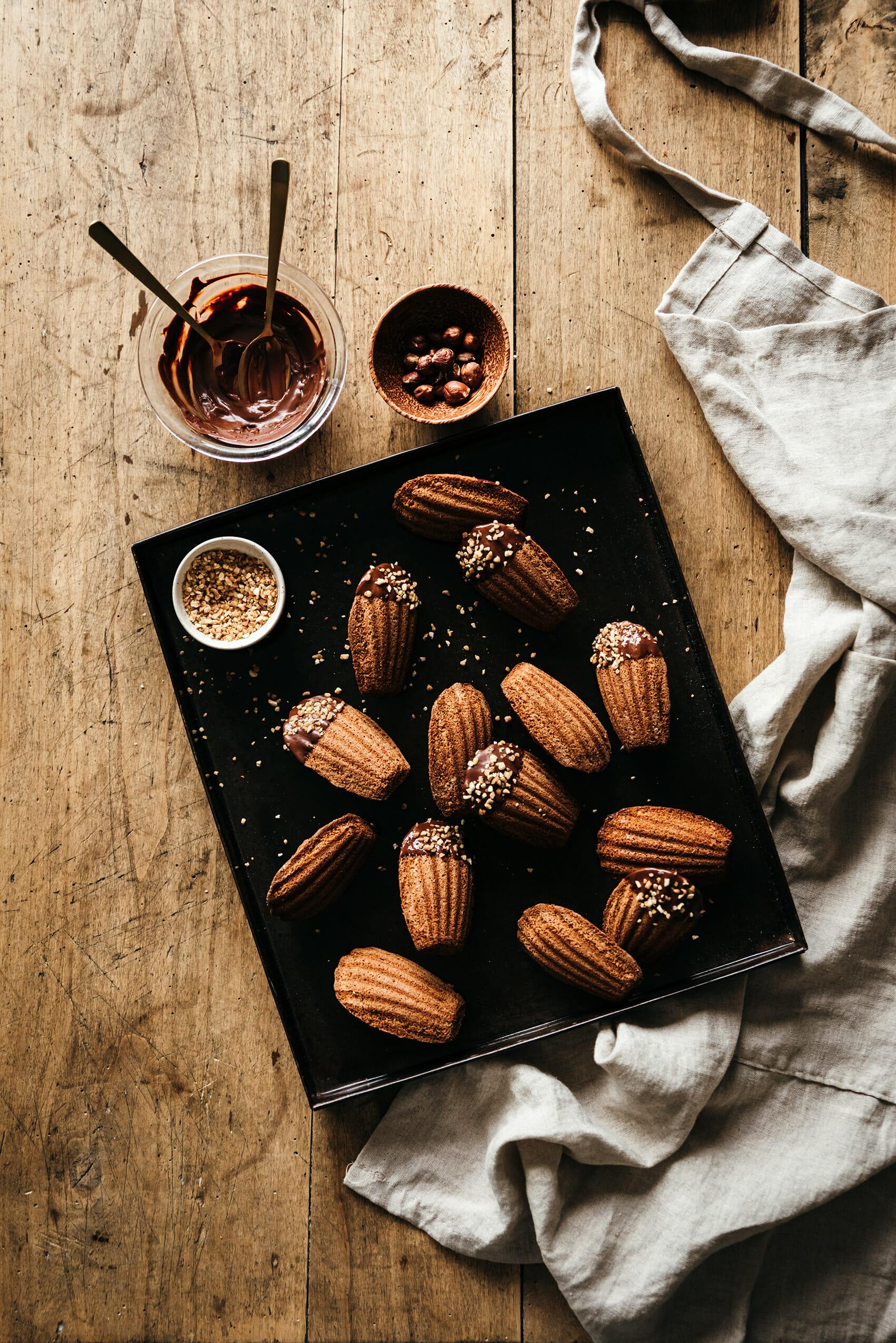 Madeleines noisette-chocolat - Lilie Bakery