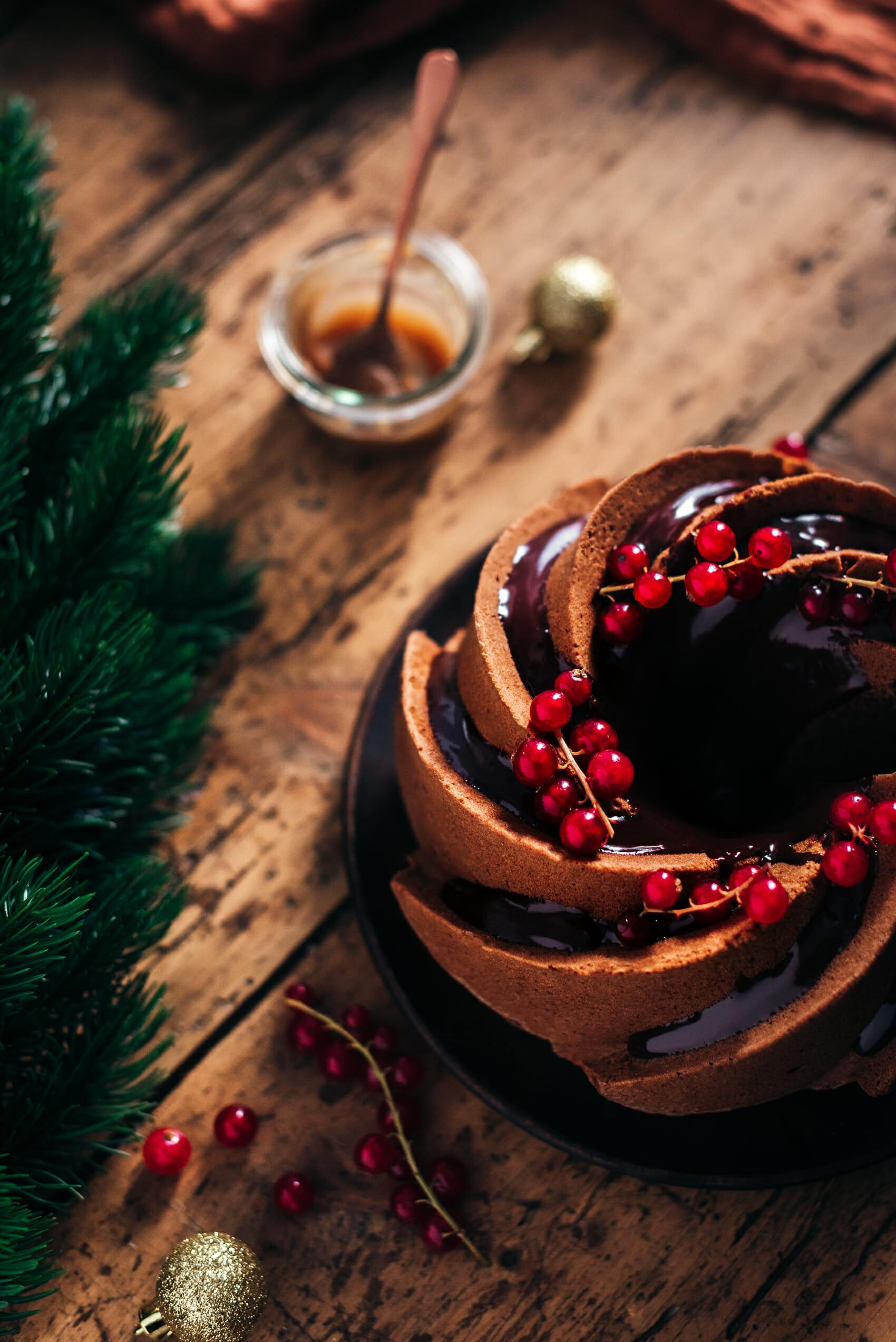 Bundt cake crème de marrons chocolat - Lilie Bakery