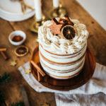 Layer cake pain d'épices glacage cannelle - Lilie Bakery