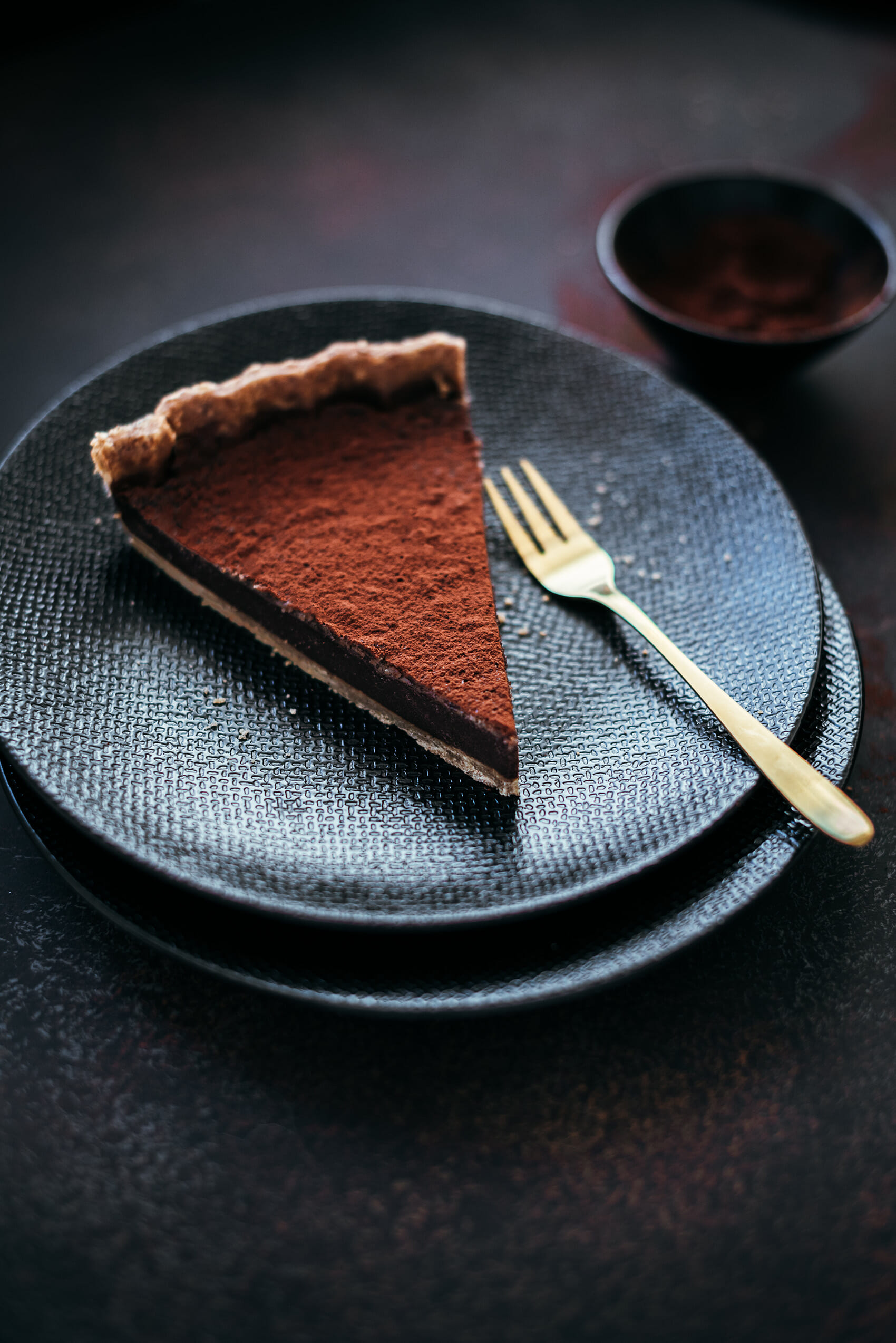 Tarte crémeuse chocolat sarrasin - Lilie Bakery