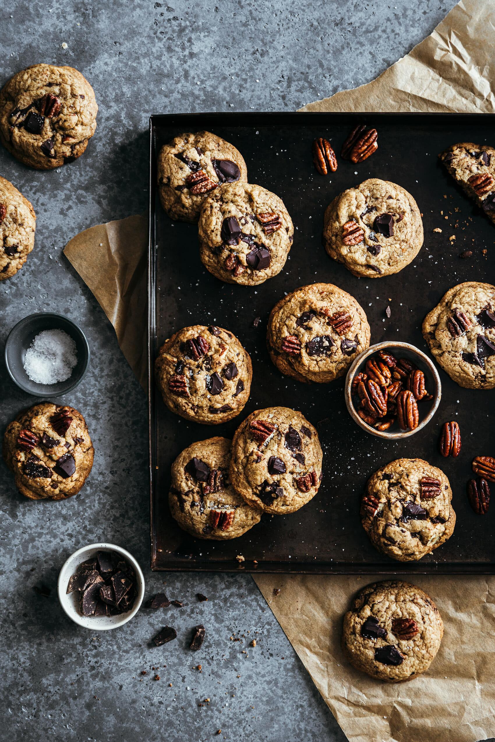 Cookies épeautre chocolat noir pécan - Lilie Bakery