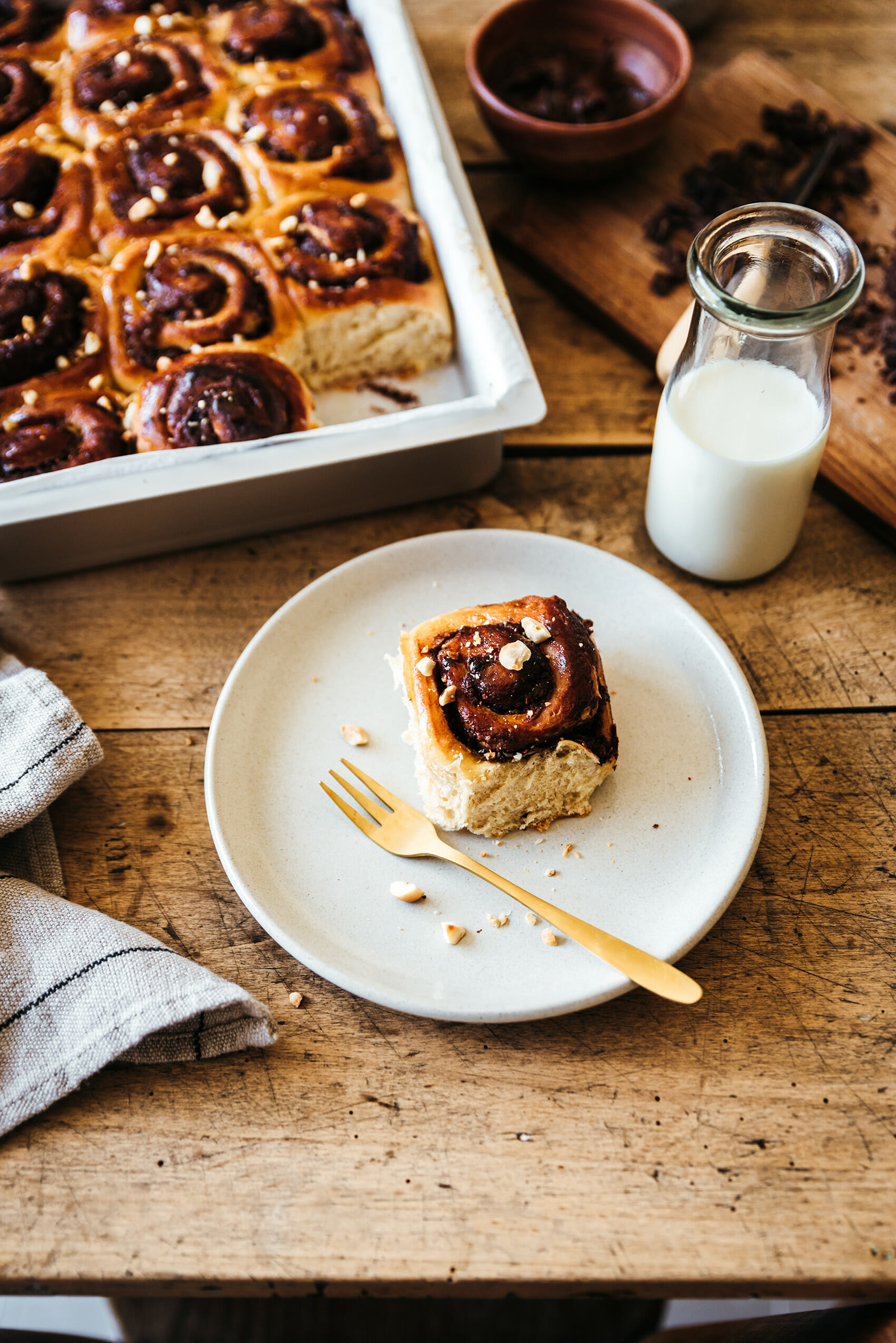 Brioches roulées chocolat-noisette - Lilie Bakery