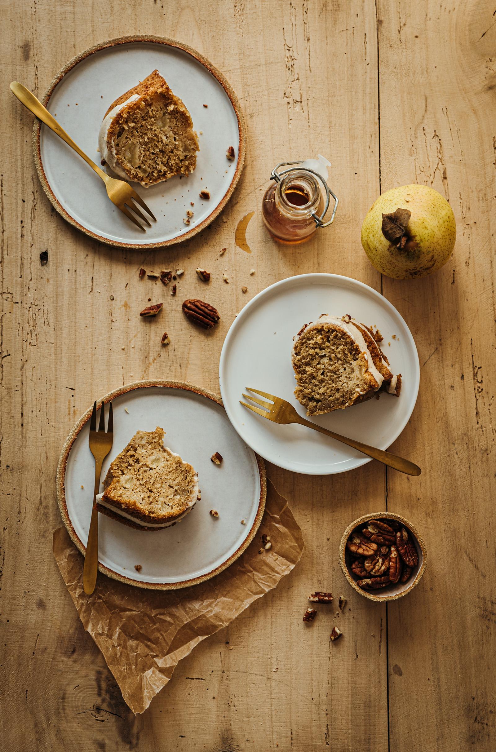 Bundt cake poire-vanille glaçage crémeux sirop d'érable - Lilie Bakery