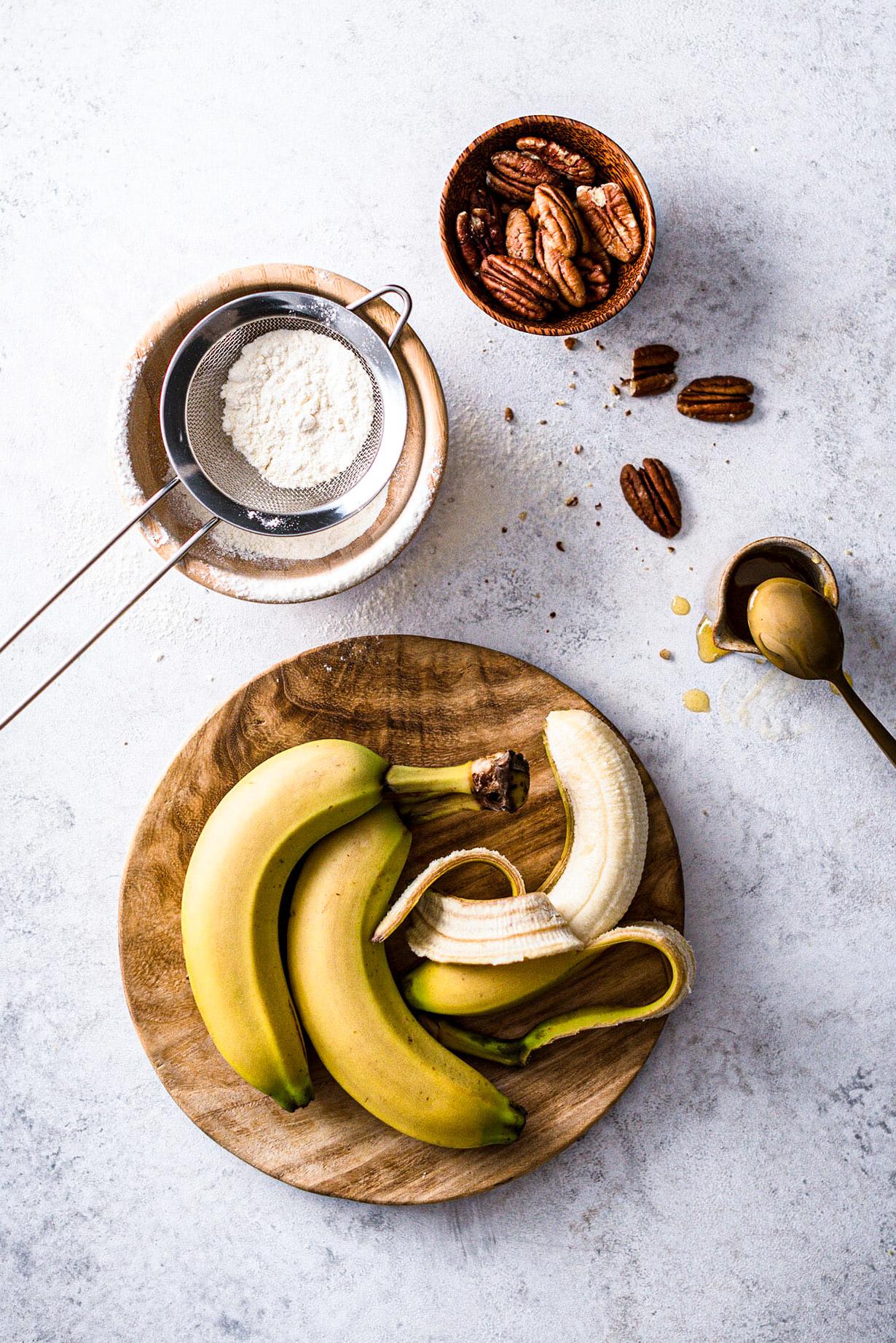 Ingrédients gâteau à la banane - Lilie Bakery
