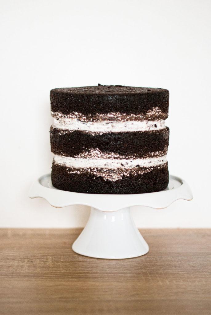 Naked cake chocolat gâteau Oreo - Lilie Bakery