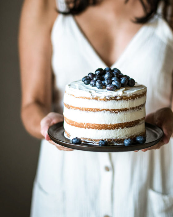 Layer Cake Myrtilles Citron - Lilie Bakery