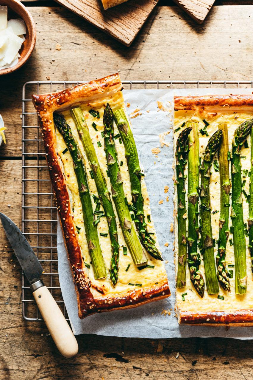 Asparagus ricotta parmesan tart - Lilie Bakery