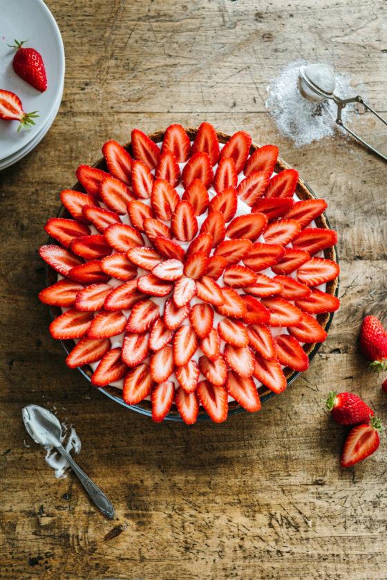 Tarte aux fraises Cyril Lignac - Lilie Bakery