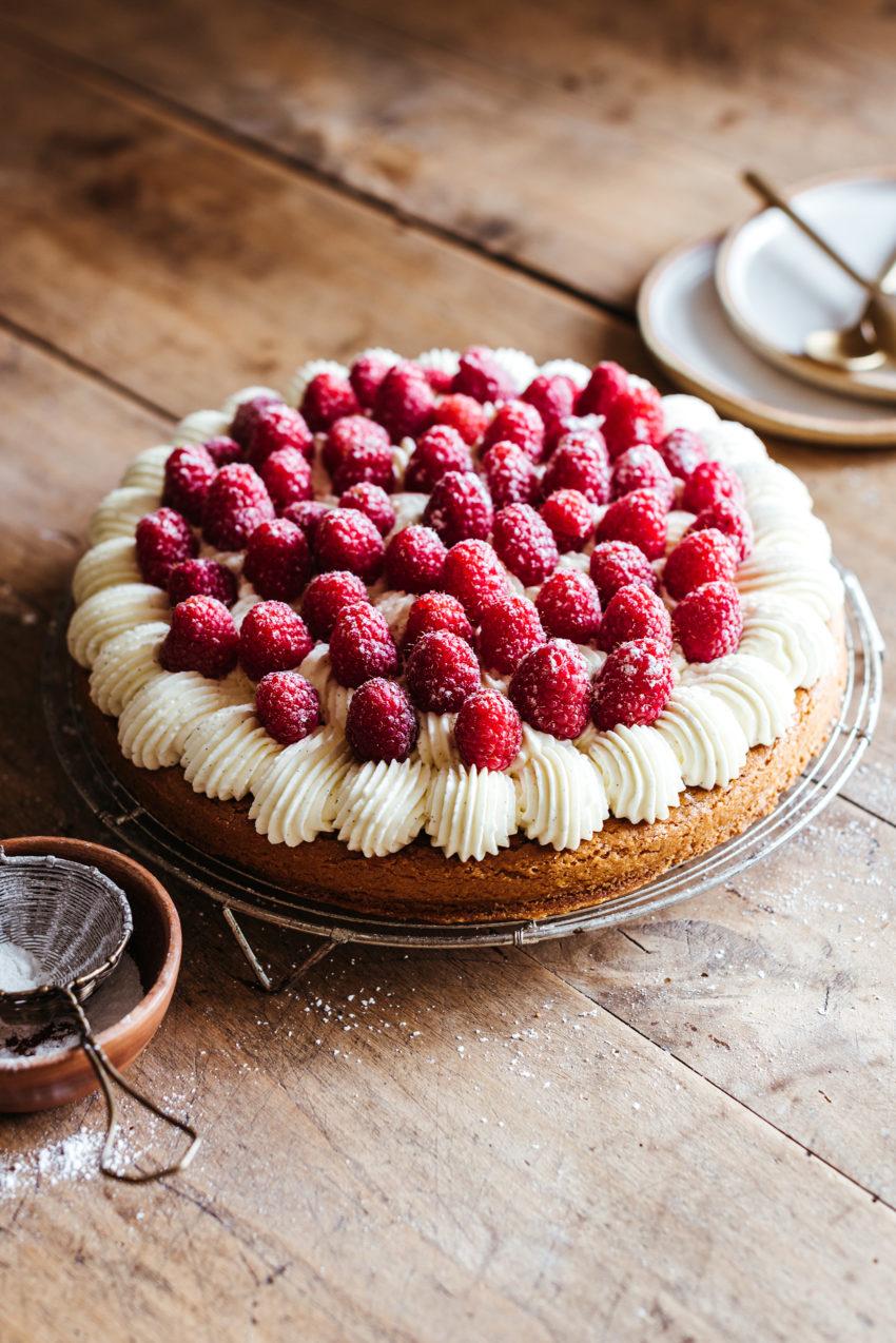 Tarte framboise mascarpone et palet breton - Lilie Bakery