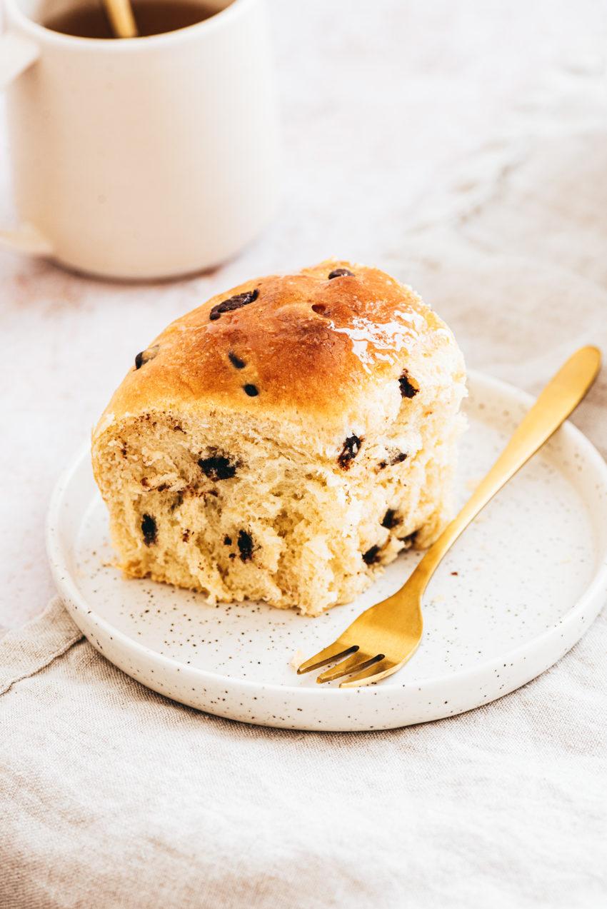 Brioche butchy moelleuse pépites chocolat sans beurre - Lilie Bakery