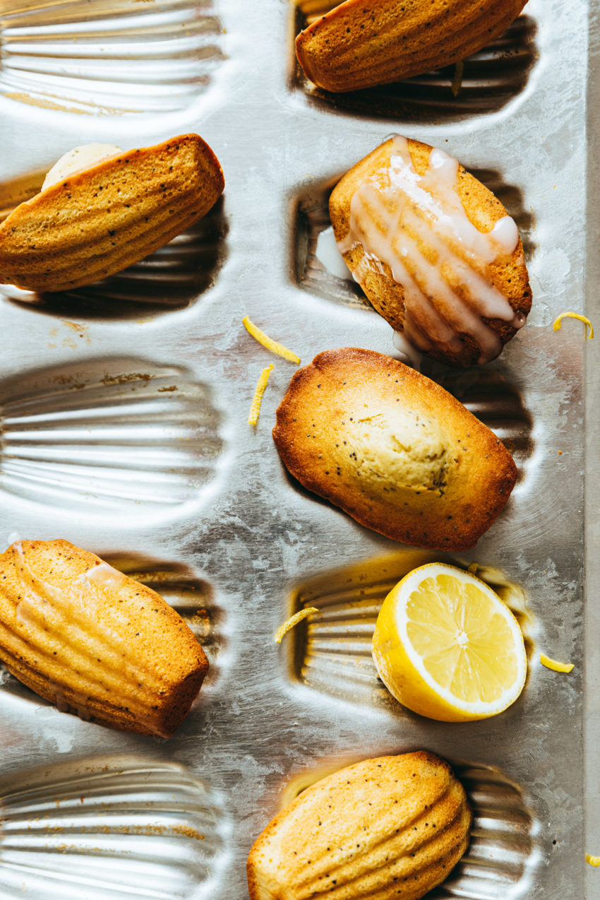 Madeleines au citron et pavot - Lilie Bakery