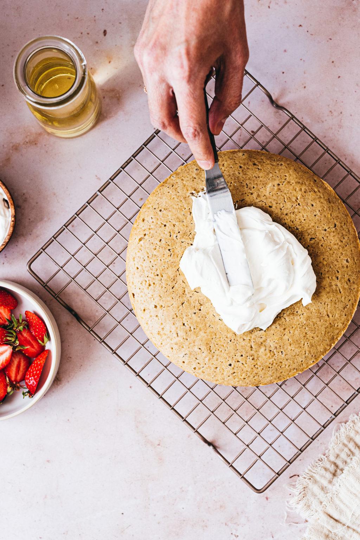 Glaçage chantilly gâteau à la vanille - Lilie bakery