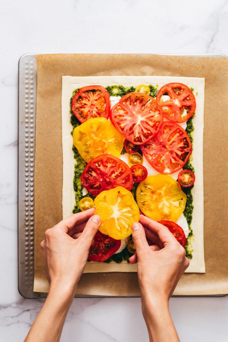 Pas à pas tarte tomate - Lilie Bakery