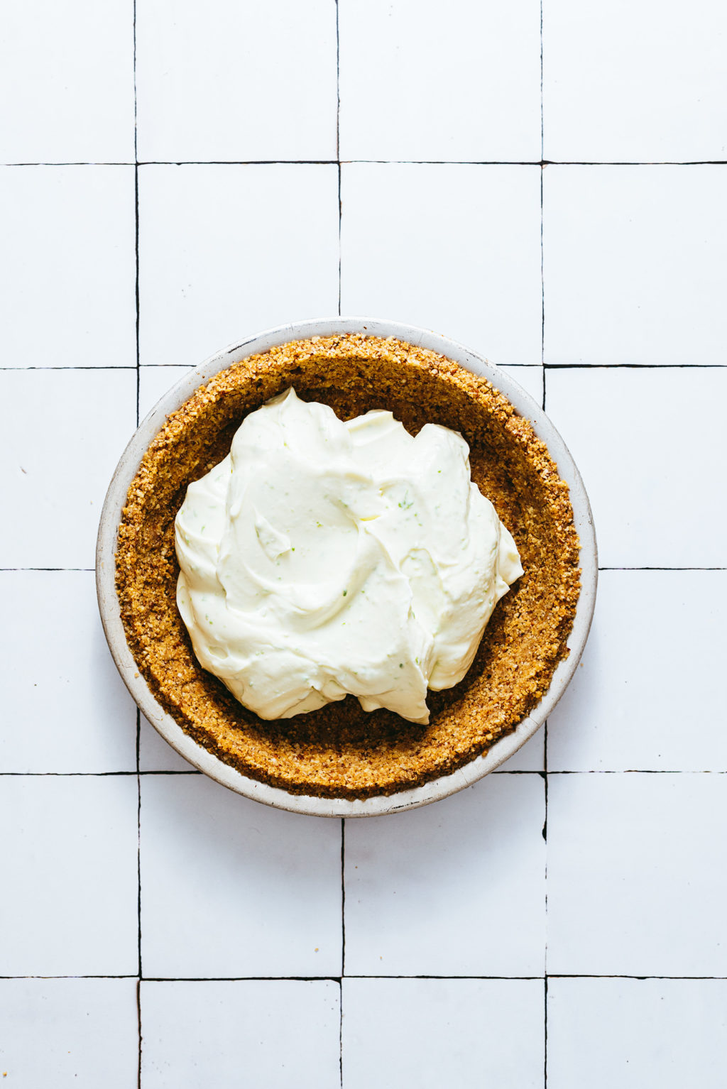 Step by step key lime pie sans cuisson - Lilie Bakery