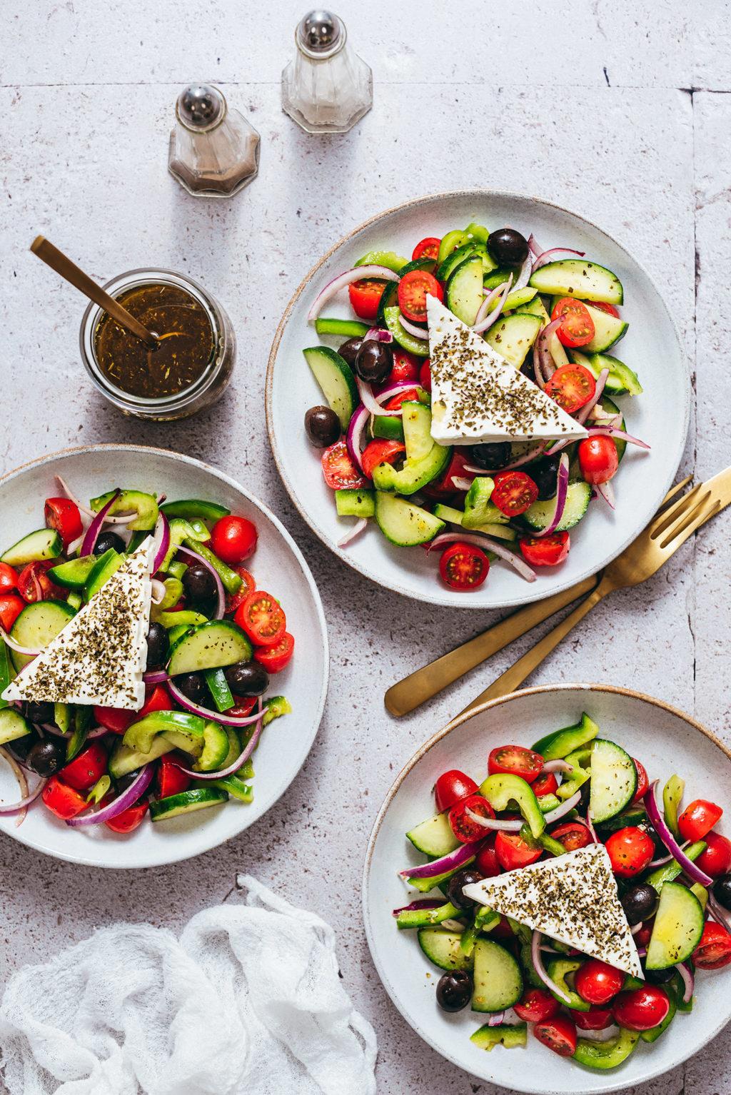 Salade grecque recette traditionnelle - Lilie Bakery
