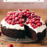 Gâteau chocolat framboise chantilly - Lilie Bakery