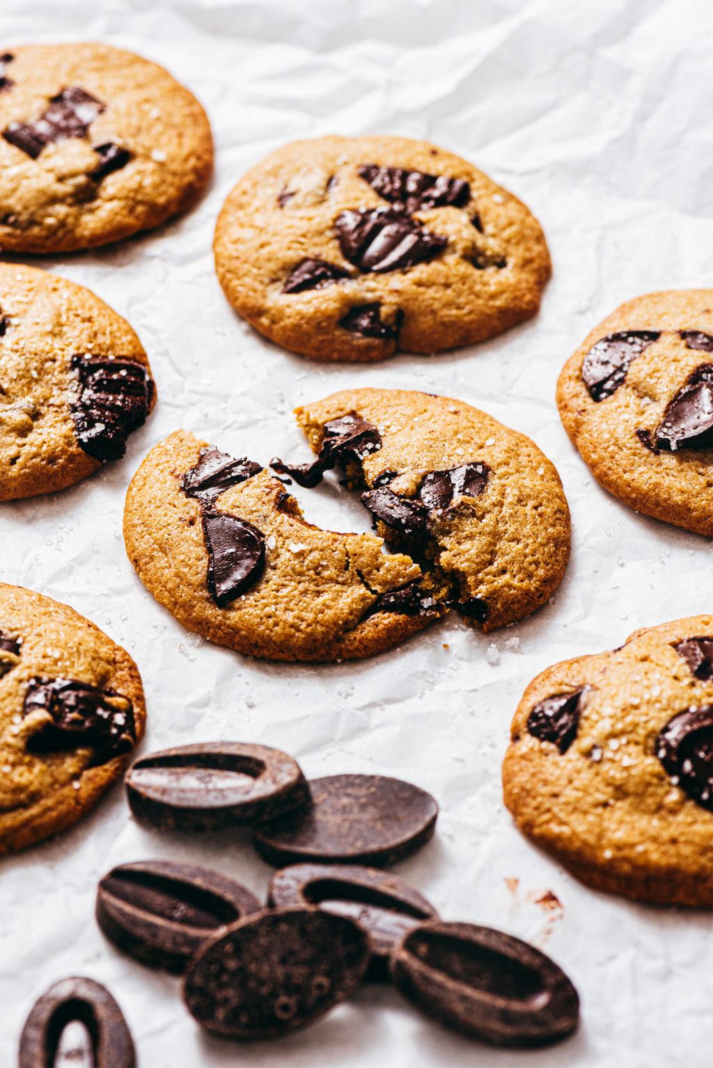 Cookies huile de coco pépites chocolat sans beurre - Lilie Bakery
